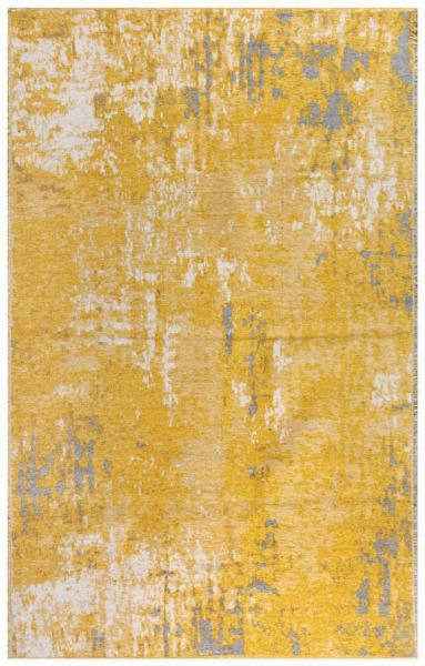 MORETTİ SİDE ÇİFT TARAFLI HALI 10407-F SARI-GRİ