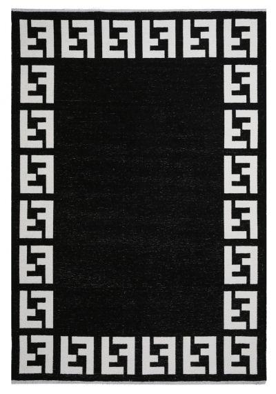 MORETTİ TURİN ÇİFT TARAFLI HALI 11371-K SİYAH-BEYAZ